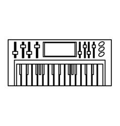 musical keyboard technology vector image
