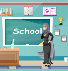 muslim teacher professor standing in front of vector image vector image