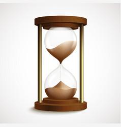Retro hourglass clock vector