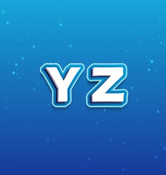 3D Font in Cartoon style with letters from Y to Z vector image vector image