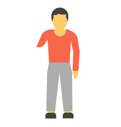 amputee faceless person without hand vector image