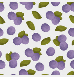 blueberry seamless pattern colorful blue vector image