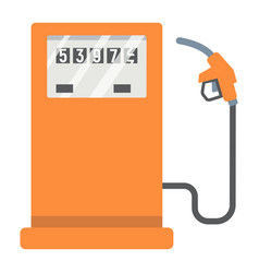 gas station flat icon petrol and fuel pump sign vector image