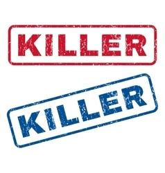 Killer Rubber Stamps vector image