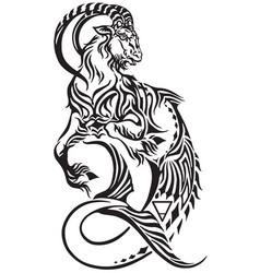 capricorn zodiac tattoo vector image vector image