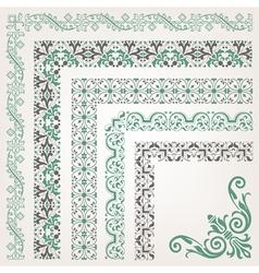Decorative seamless islamic ornamental border vector image
