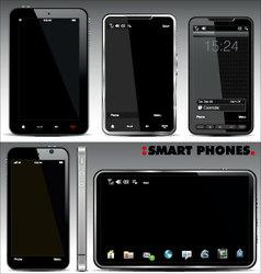 smart phones set vector image