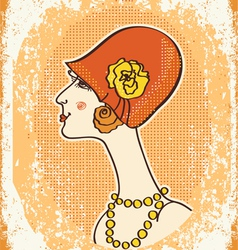 vintage woman fashion vector image vector image