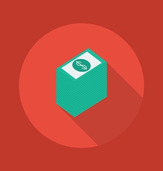 Business Flat Icon Money vector image vector image