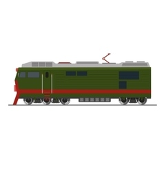 Freight train Isolated on white Side view vector image vector image