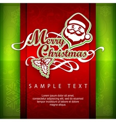 Mary Christmas poster Text vector image
