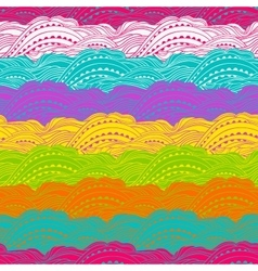 Pattern Color Waves Big vector image vector image