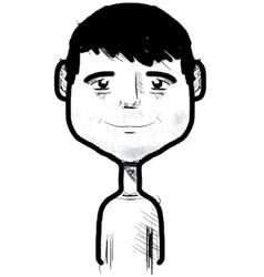 Smiling boy sketch vector image vector image