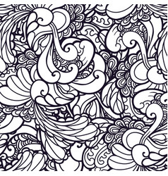 swirl abstract floral pattern fabric vector image vector image