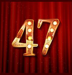47 years anniversary celebration logotype vector image