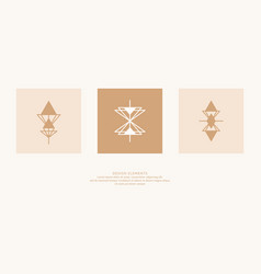 a set geometric emblems abstract compositions vector image