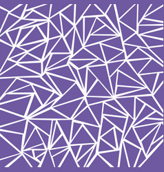 Abstract purple geometric and triangle patterns vector