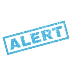 Alert Rubber Stamp vector