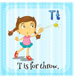 Alphabet t is for throw vector