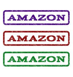 Amazon watermark stamp vector