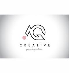 Aq letter logo design with creative modern trendy vector