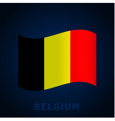 Belgium wave flag waving national official colors vector