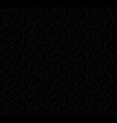 black linear abstract cube pattern vector image