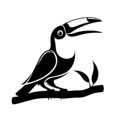 black toucan bird sign vector image
