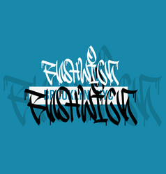 bushwick brooklyn nyc usa hand lettering graffiti vector image