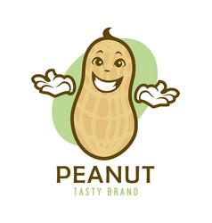 cartoon peanut character vector image
