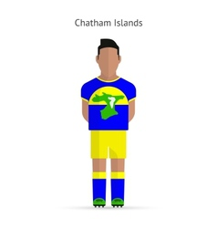 Chatham Islands football player Soccer uniform vector