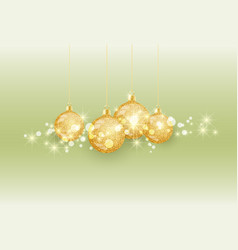 christmas ball on colored background vector image