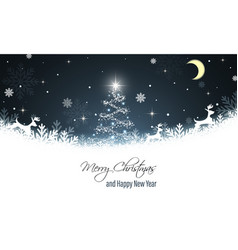 Christmas greeting card new year wishes reindeer vector
