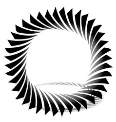 Circular edgy shape twisting element vector