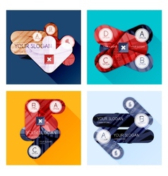 Collection of Flat Infographic Layouts vector
