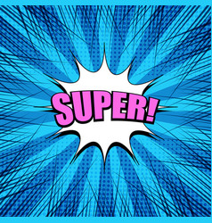 comic bright blue explosive template vector image