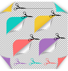 corners and scissors vector image