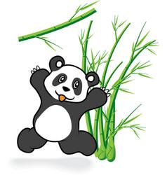 cute panda bear in bamboo forest 05 vector image