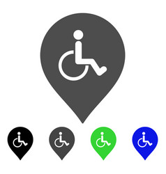 Disabled person parking marker flat icon vector