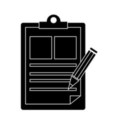 document board with pencil vector image