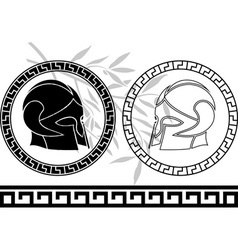 fantasy ancient helmets vector image