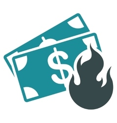 Fire Accident Icon from Commerce Set vector image