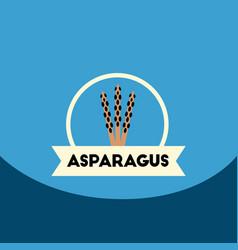 Flat icon design collection asparagus vector