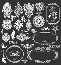 Floral vintage decorative elements vector