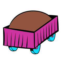 Freight carriage icon icon cartoon vector