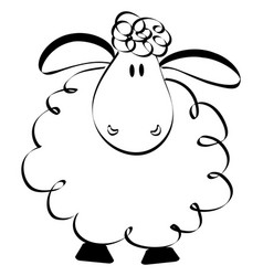 Funny sheep drawing vector
