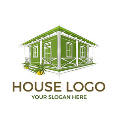 house logo design inspiration vector image
