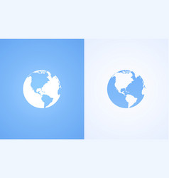 icon world globe vector image