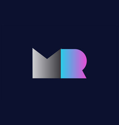 Initial alphabet letter mr m r logo company icon vector