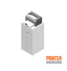 isometric printer vector image